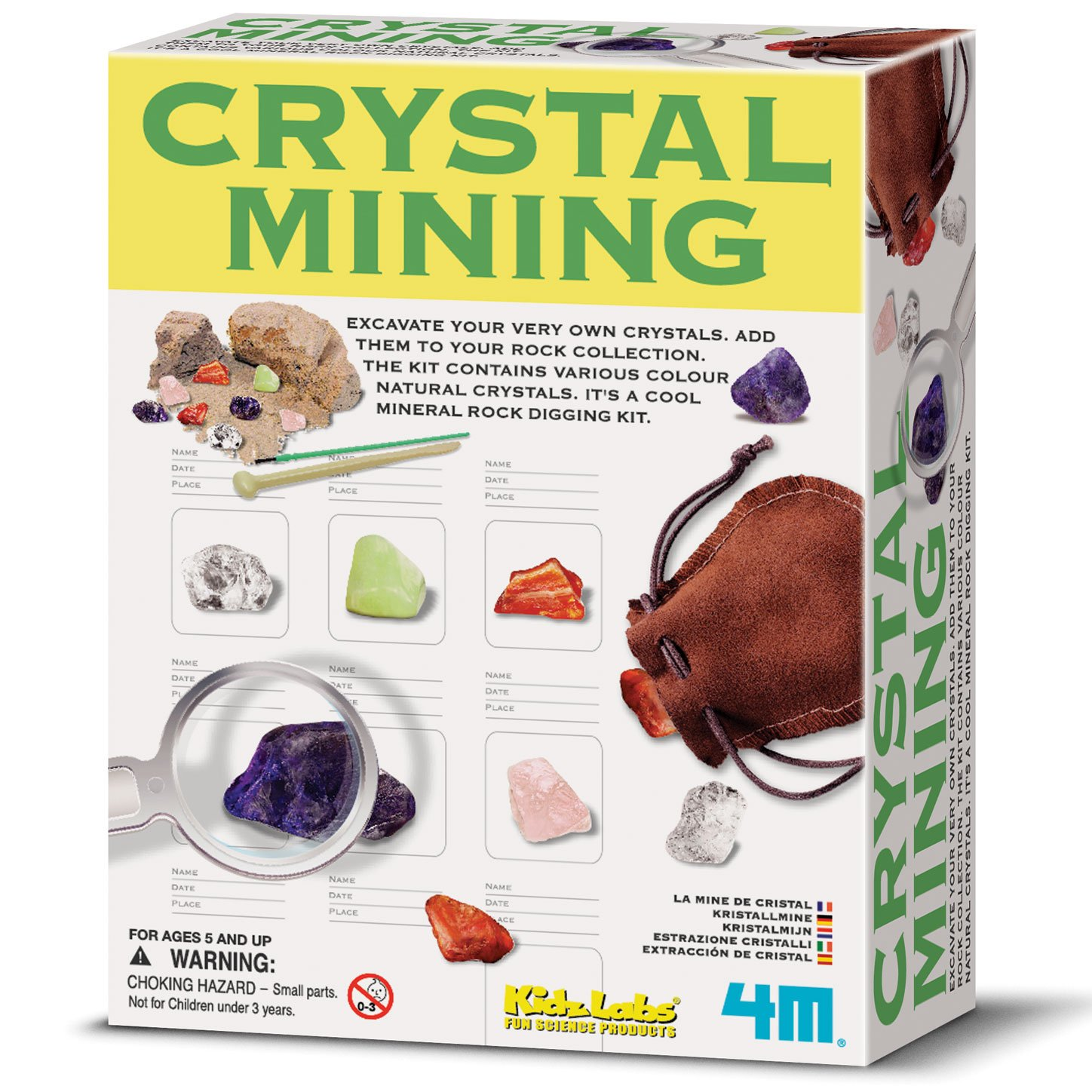 Best Gifts for 5 Year Old Boys 4M Crystal Mining Kit