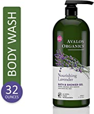 Avalon Organics Nourishing Lavender Body Wash and Shower Gel, 32 oz
