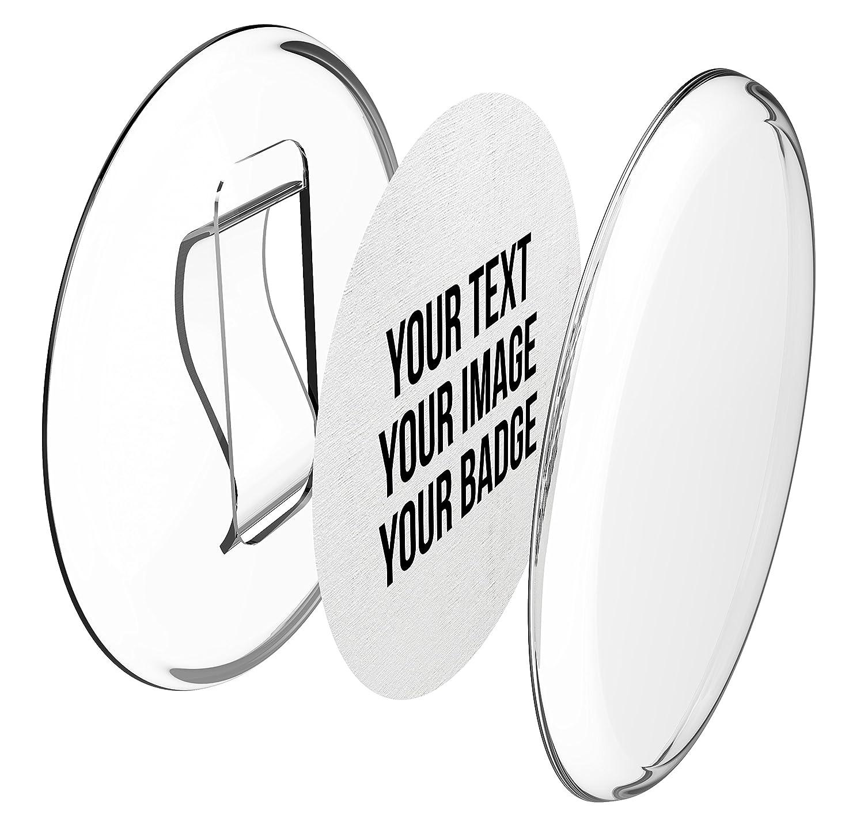 a presi/ón /Ø 56 mm, 50 piezas - Conjunto incluye papel pre cortado A4 -H/ágalo usted mismo- sin necesidad de m/áquina Chapas pl/ásticas con clip