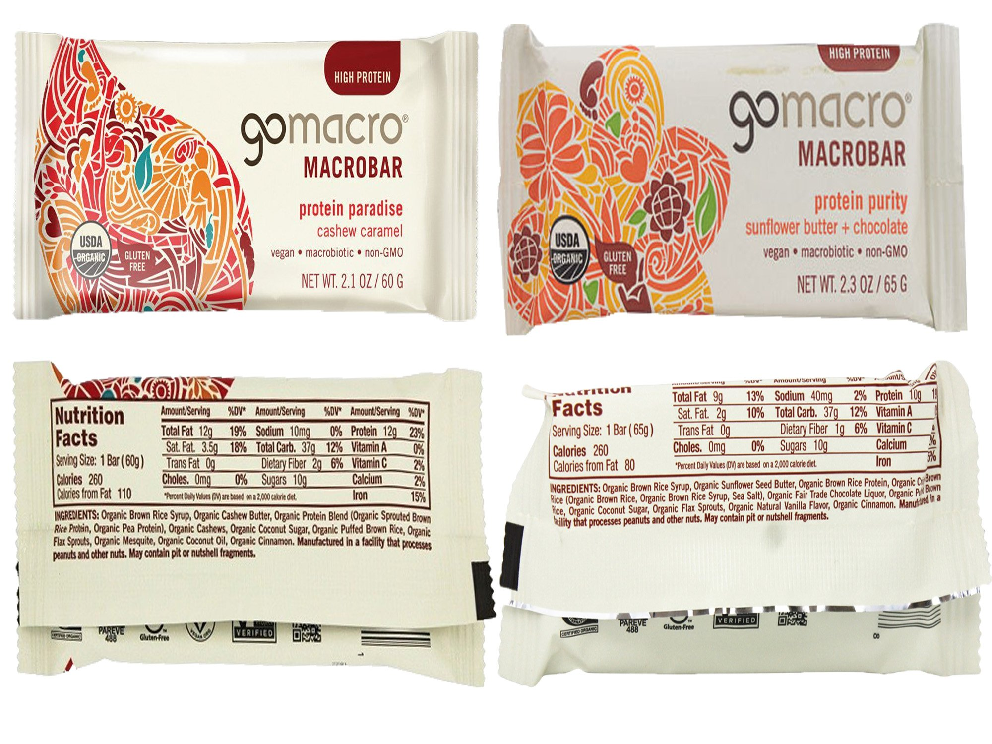 GoMacro Bars / Go Macro Organic Nutrition Meal Bars Variety, 1.9 oz- 2.5 oz (Pack of 20 / 2 Each of 10 Flavors ) with Snack Castle 9'' x 8'' Reusable Snack Pouch with Locking Knob Bundle by GoMacro (Image #5)