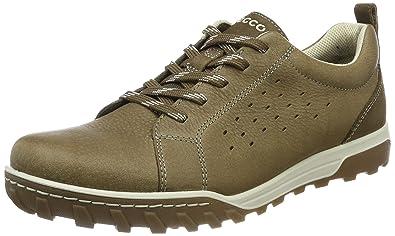 ECCO Men's Urban Lifestyle Tie Fashion Sneaker, Birch/Dark Clay, 40 EU/