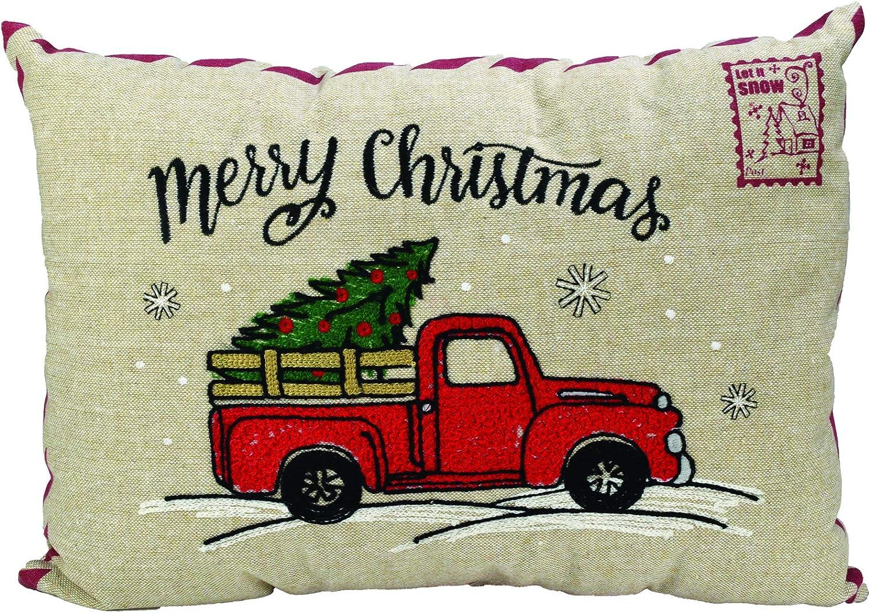 Christmas Linen Throw Sofa Car Memory Foam Pillow Shredded Memory Foam Pillow