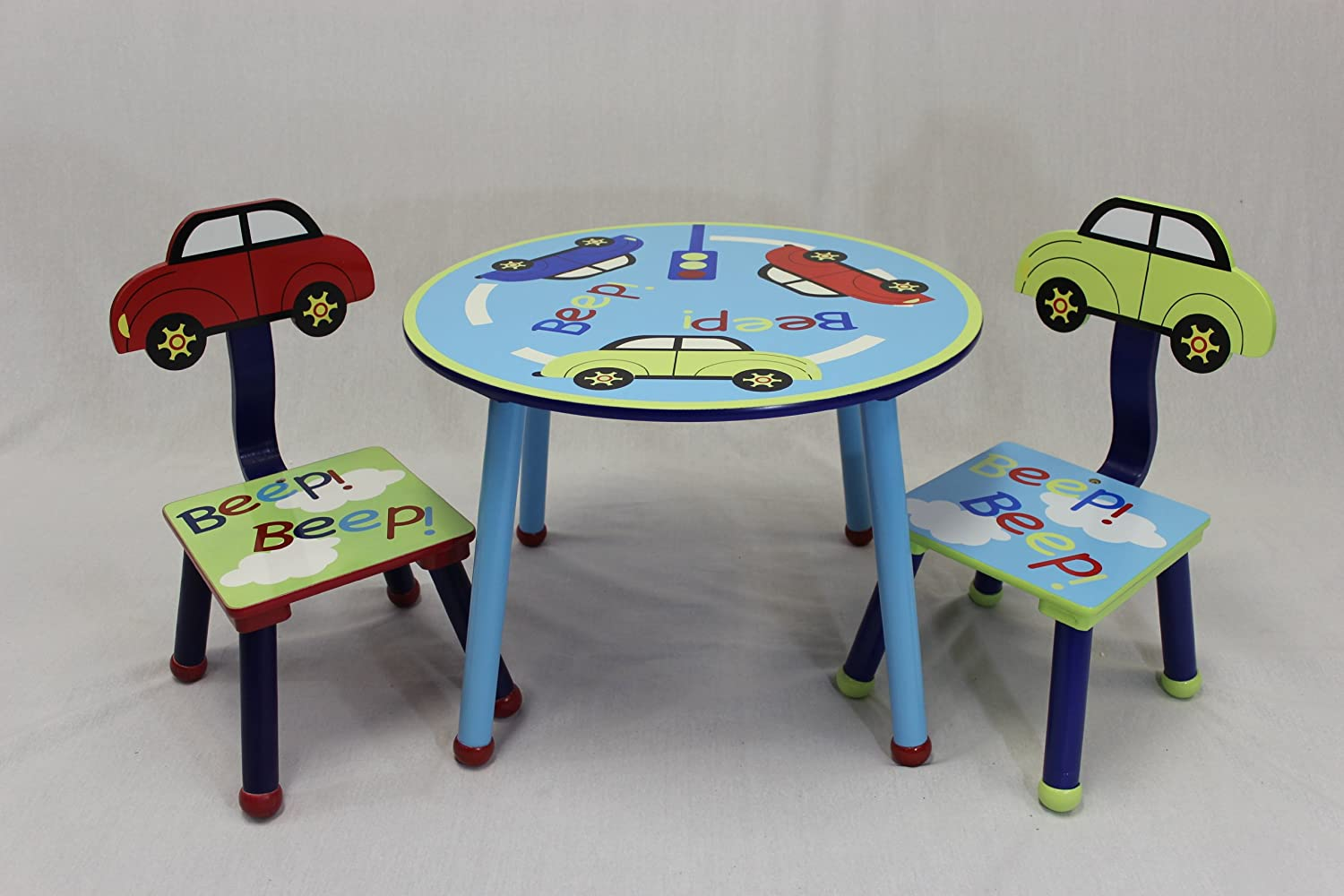 Amazon.com: eHemco Kids Table and Chair Set - Car Theme: Kitchen ...