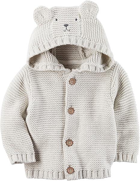 Amazon.com: Carter bebé Boys del oso con capucha chaqueta ...