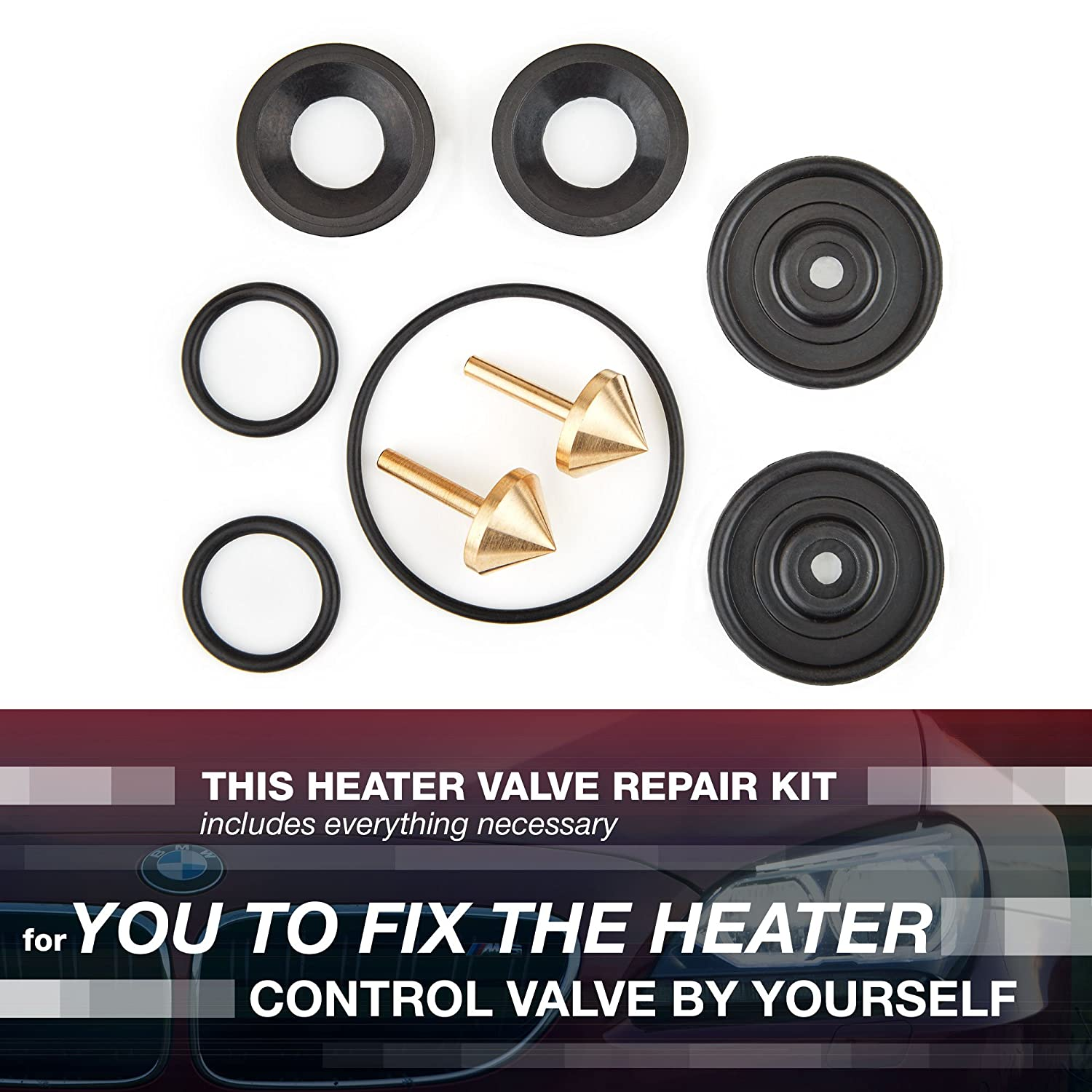 Heater Valve Repair Kit Compatible with BMW Cars - Set of Heater Repair  Parts - No Need to Buy a New Valve, Suitable for Self-Repair E39, E38, E53,