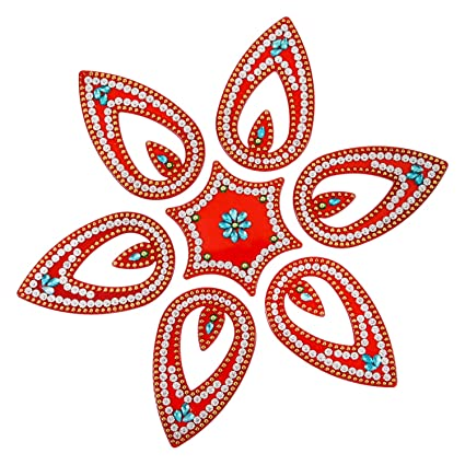 Amba Handicraft Rangoli Home Decor Diwali Gift For Home Interior Handcrafted Floor Stickers Wall Stickers Wall Decoration Floor Decoration New Year