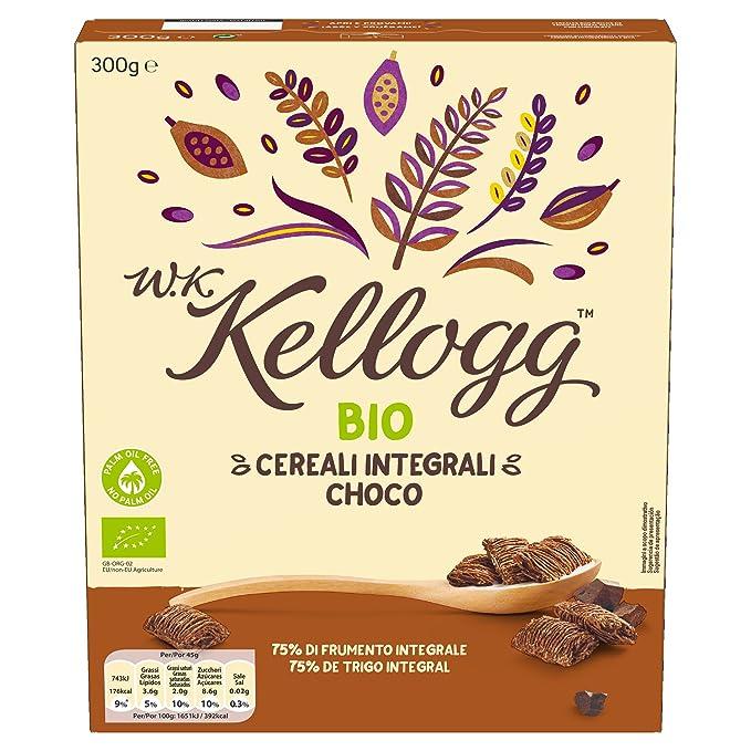 Kelloggs Cereales Bio Choco - Paquete de 6 x 300 gr - Total: 1800 gr