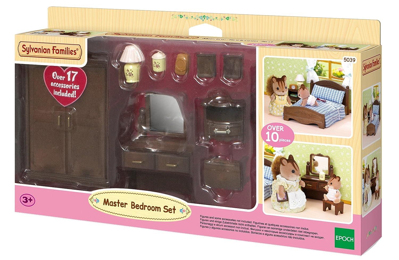 Sylvanian families master bedroom set amazon co uk toys games