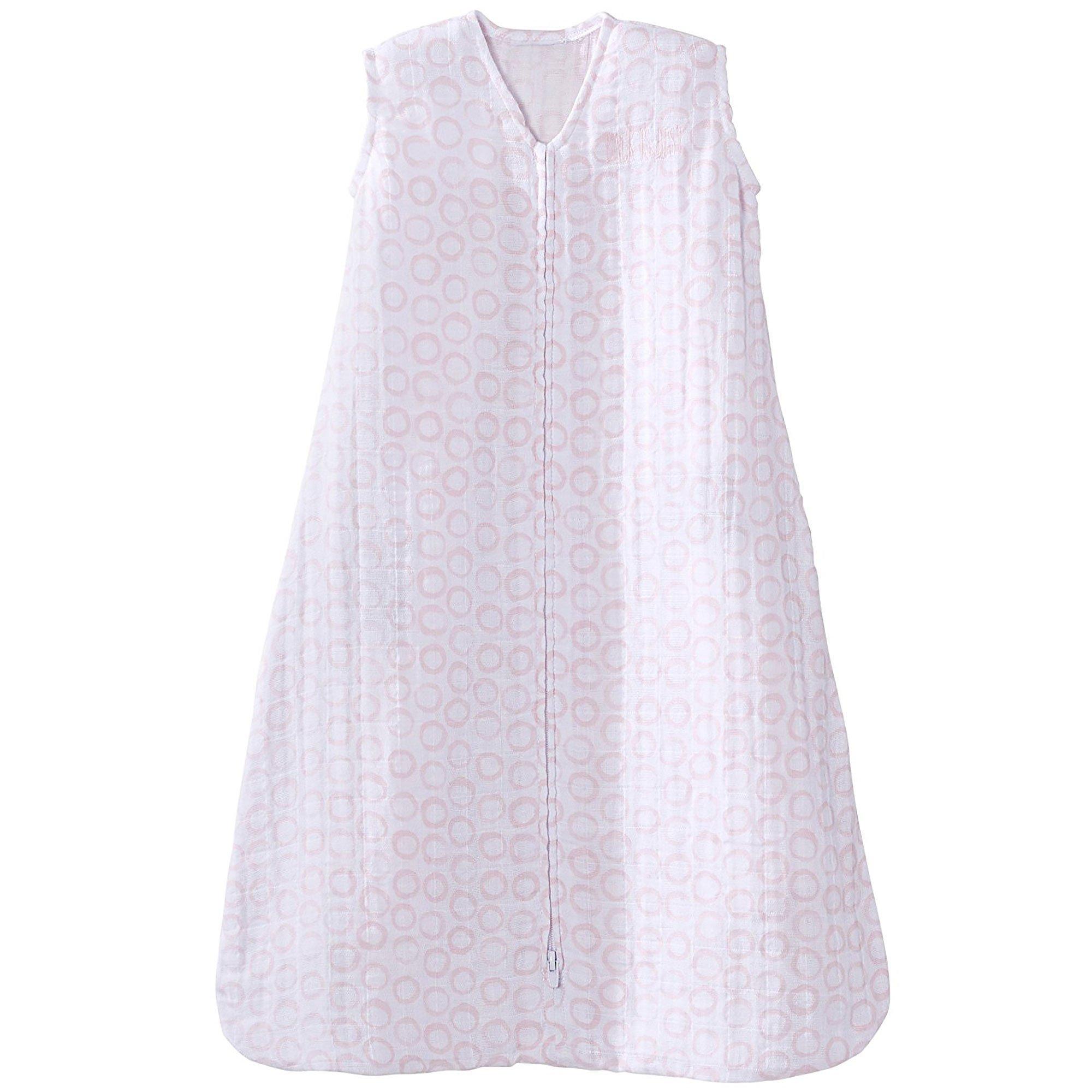 Circles Grey Halo 100/% Cotton Muslin Sleepsack Wearable Blanket X-Large