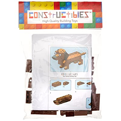 LEGO Constructibles Dachshund Mini Model Parts & Instructions Kit: Toys & Games [5Bkhe1403896]