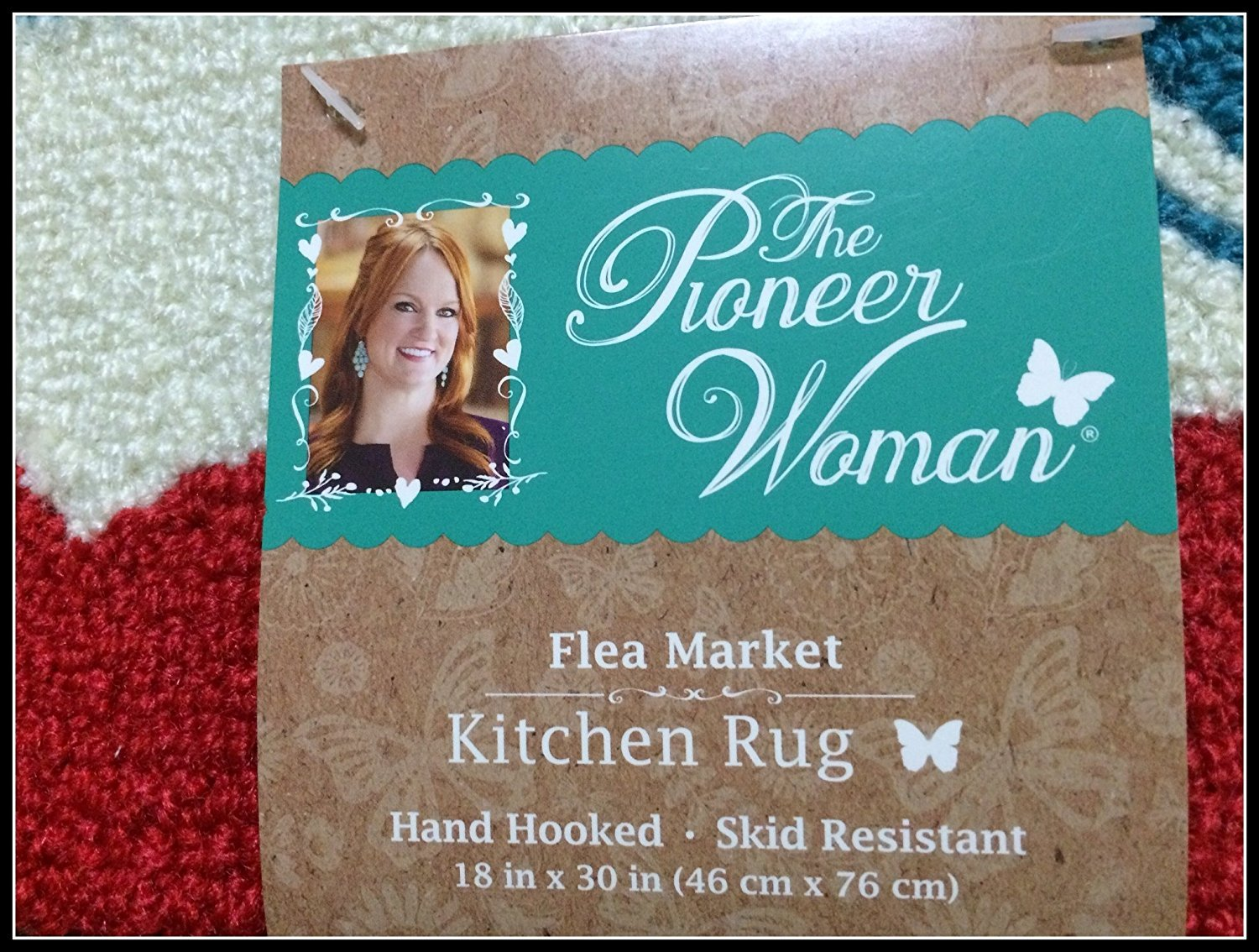Amazon.com : Pioneer Woman Kitchen Rug Mat Bright Floral Hand Hooked ...