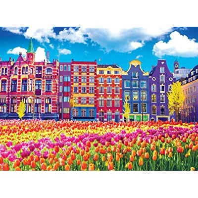 Kodak 1000 Piece - Traditional Old Buildings and Tulips in Amsterdam Netherlands Holland: Toys & Games