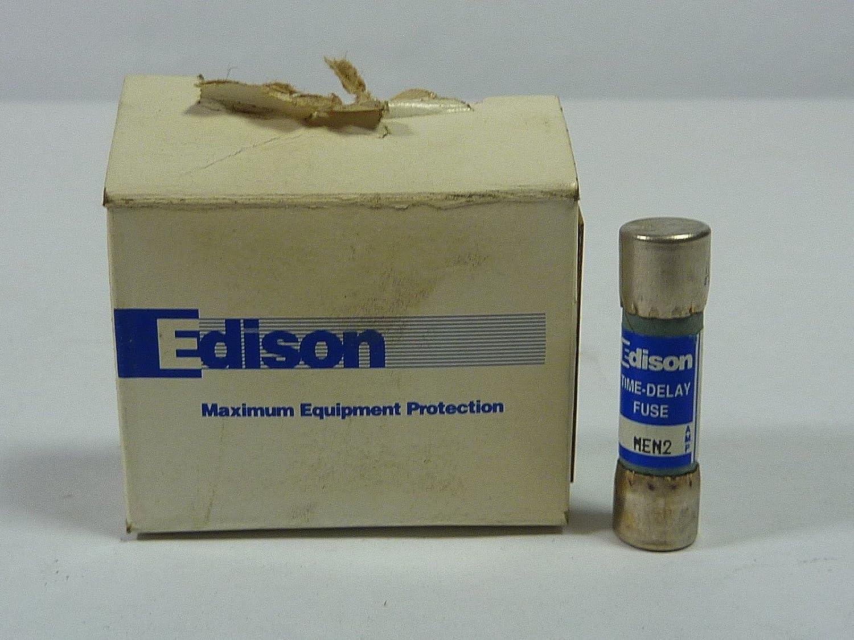 Edison MEN2 Dual Element Midget Non-Rejection Time Delay Fuse 2 Amp 250 Volt AC