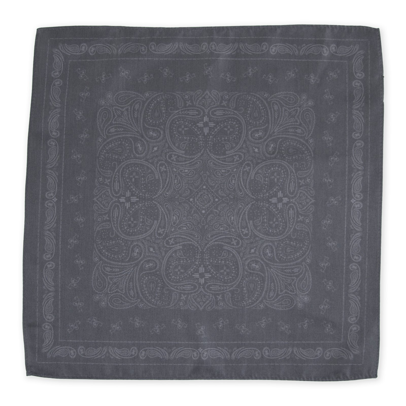 Declan 13.4 Inch Microfiber Pocket Square, Handkerchief, Cleaning Cloth (Brooks Gray) by Declan