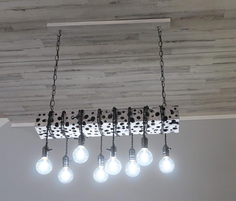 d945aa9c234da Amazon.com: Reclaimed Wooden Barn Beam,Chandelier,Ceiling Light ...
