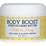 Body Boost Milk & Honey Stretch Mark Butter 8 oz.- Pregnancy and Nursing Safe Skin Care