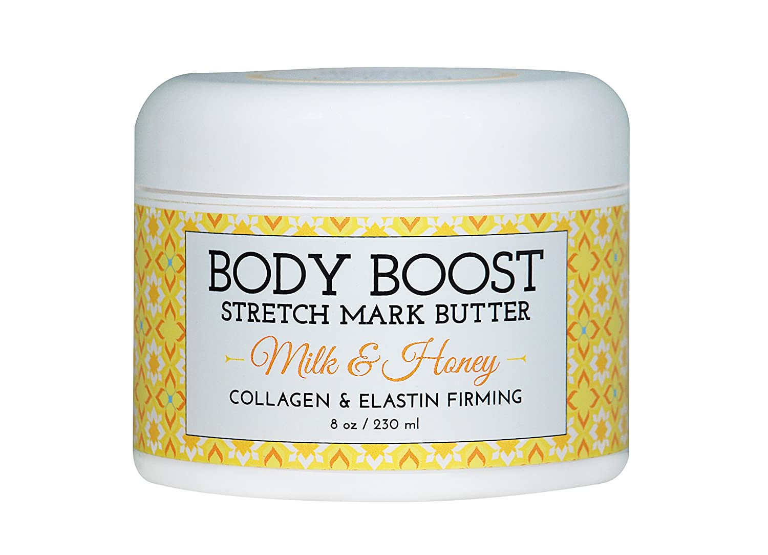 Body Boost Milk & Honey Stretch Mark Butter - Treat Stretch Marks and Scars - Pregnancy and Nursing Safe