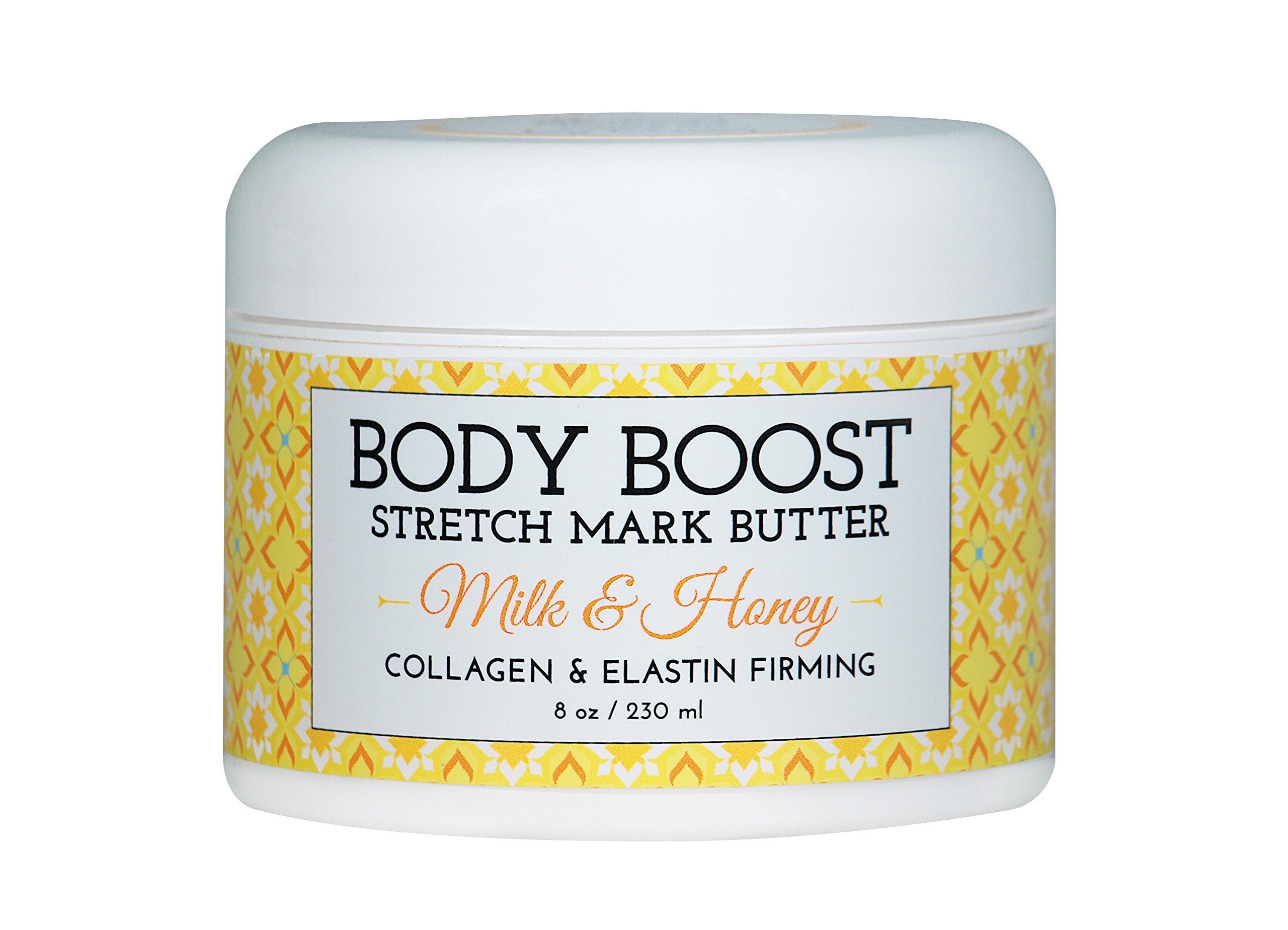 Body Boost Milk & Honey Stretch Mark Butter 8 oz.- Pregnancy and Nursing Safe Skin Care by Body Boost