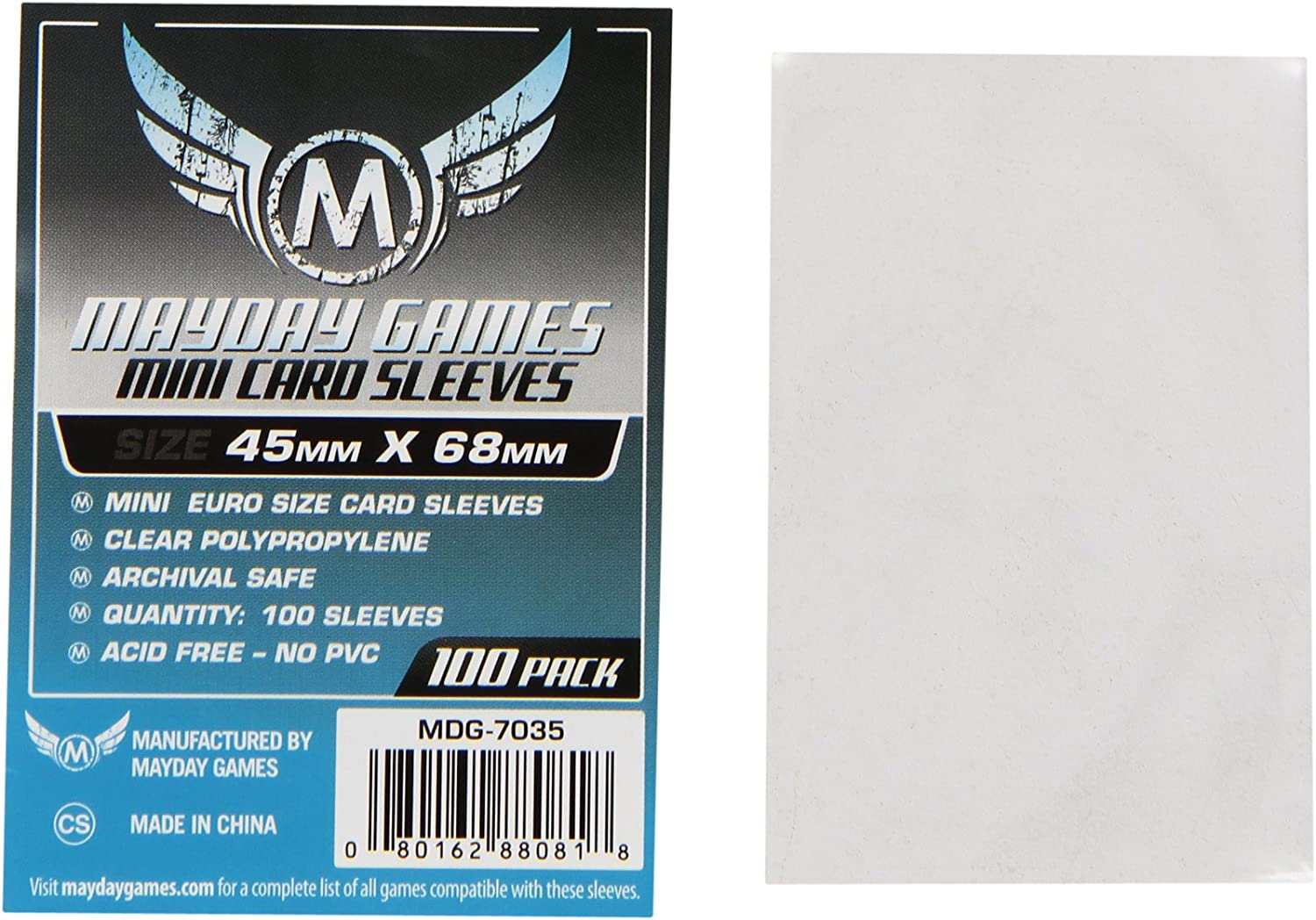 Mayday Games Mini Card Sleeve 45 MM X 68 MM pack of 100: Toys & Games