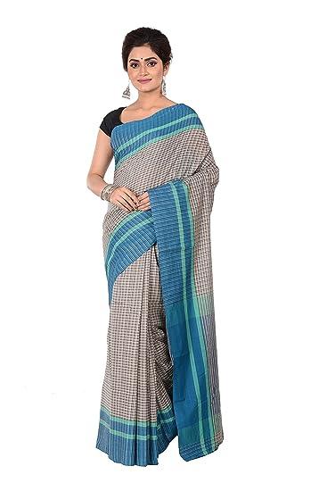 Tantuja Bengal Handloom (A Govt. of West Bengal Enterprises) Handloom Cotton Made White Coloure Ethnic Wear For Women's