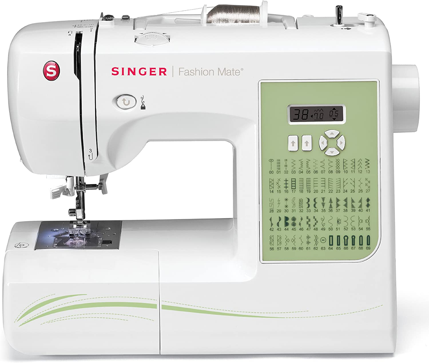 SINGER 7256 FASHION MATE 70 DE STITCH COMPUTER IZED FREE 7541 ...