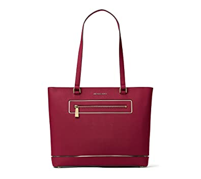4e895f9957c4 Amazon.com: MICHAEL Michael Kors Frame Out Item Large North South Tote ( Cherry): Shoes