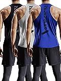 Neleus Men's 3 Pack Mesh Workout Muscle Tank