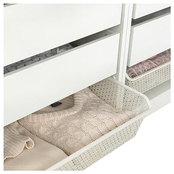 IKEA KOMPLEMENT - Cesta de metal con barra extraíble Color ...