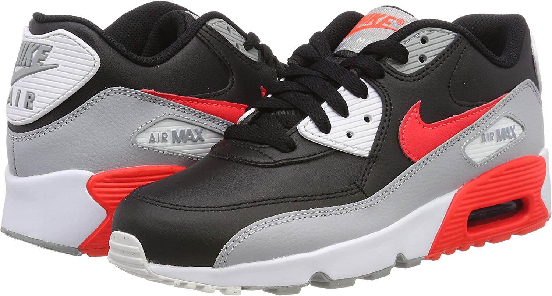 madera ajuste Catarata  Nike - Air MAX 90 LTR GS - 833412024 - El Color: Negros-Grises-De Color  Naranja - Talla: 5.0: Amazon.com.mx: Ropa, Zapatos y Accesorios