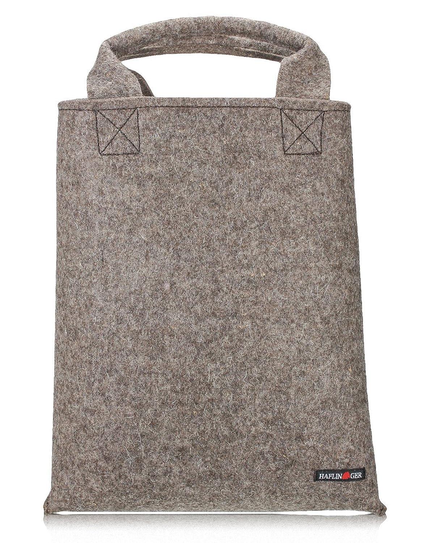 Taschen 699912 Filz-Shopper Damen Tragetasche, xx cm Grau Haflinger