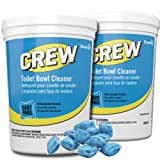 Diversey Crew Easy Paks Toilet Bowl Cleaner, 2 Tubs x 90 Dissolvable Packets.5 oz. Packet