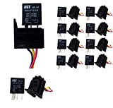 GENSSI Car 30A 12V SPST Micro Relay Kit For