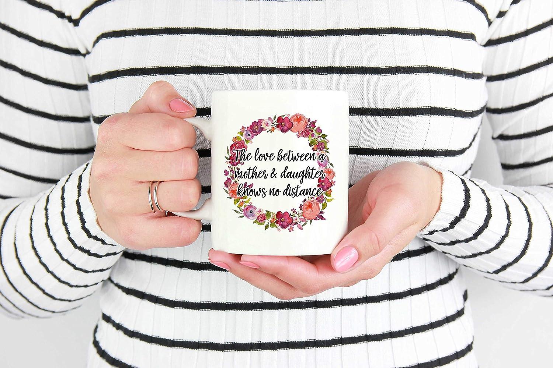 Taza para mudanza, regalo de Navidad para mamá, regalo para el día de la madre, regalo de larga distancia para mamá, taza de larga distancia para madre, 325 ml