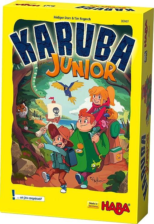 HABA- Karuba Junior 303407 - Juego de arreglo cooperativo para niños de 4 a 8 años: Amazon.es: Juguetes y juegos