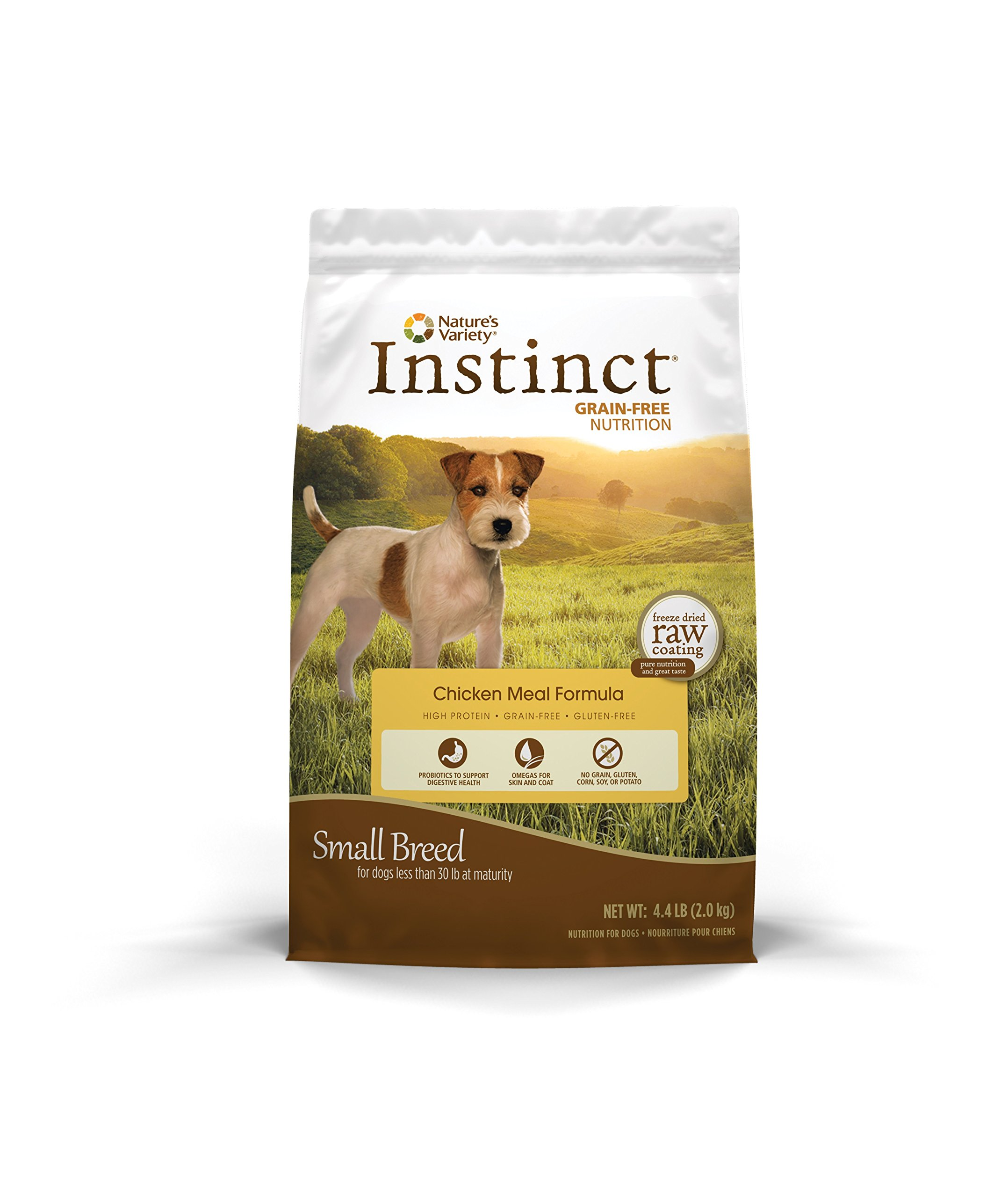 Instinct Original Small Breed Grain Free Chicken Meal Formula Natural Dry Dog Food by Nature's Variety, 4.4 lb. Bag by Nature's Variety (Image #1)