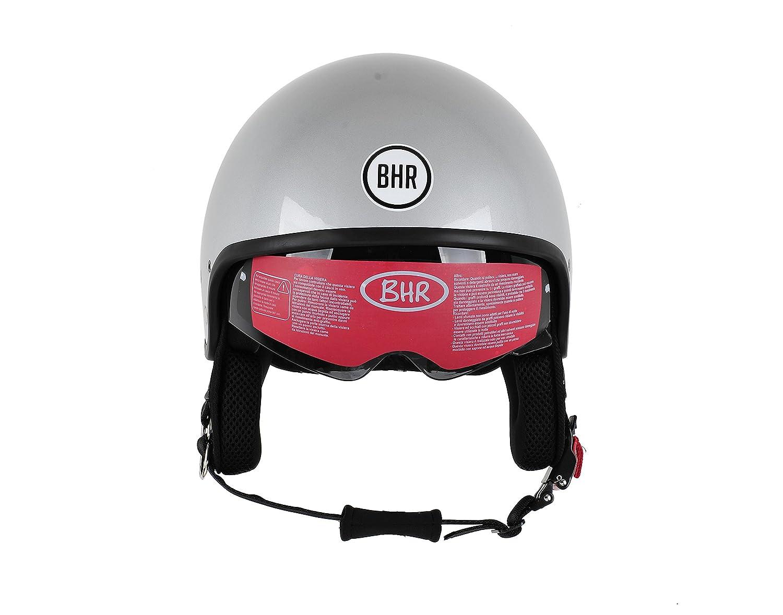 BHR Motorrad Helm 802 Demi-Typ mit Visier Versenkbare,Roter Stern 59 cm XL