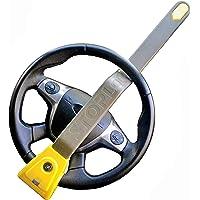 Stoplock HG 134-66 airbag 4 x 4 stuurwielslot voor auto's, veilig anti-diefstalapparaat met sleutels, geel/grijs, 1 stuk