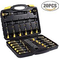 Visseuse à Chocs Brushless, TECCPO Professional 220Nm Clé à Chocs Sans Balais 18V, 2 Batteries 2.0Ah, 30min Charge Rapide, 6.35mm Mandrin Rapide, Lampe LED Intégrée, 0-2900RPM - TDID02P