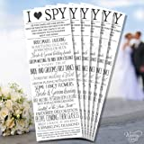 2 x Wedding I Spy Game Camera Kids Table Activity Favour Personalised Wedding Novelty Keepsake Shabby Chic Vintage Sign Poster Children Memory Ceremony Any Size Any Colour Any Text Cards A4 A5 A6 A7