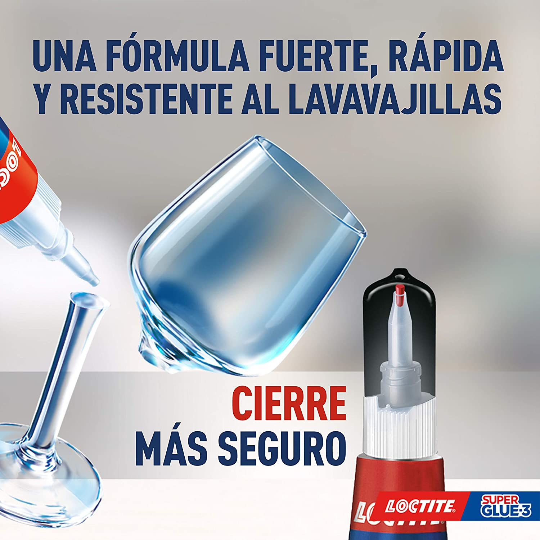 Loctite Super Glue-3 Cristal, adhesivo para cristal resistente al ...