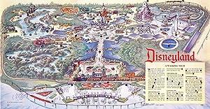 Laminated 46x24 Poster: Vintage Map - Vintage Disney Parks