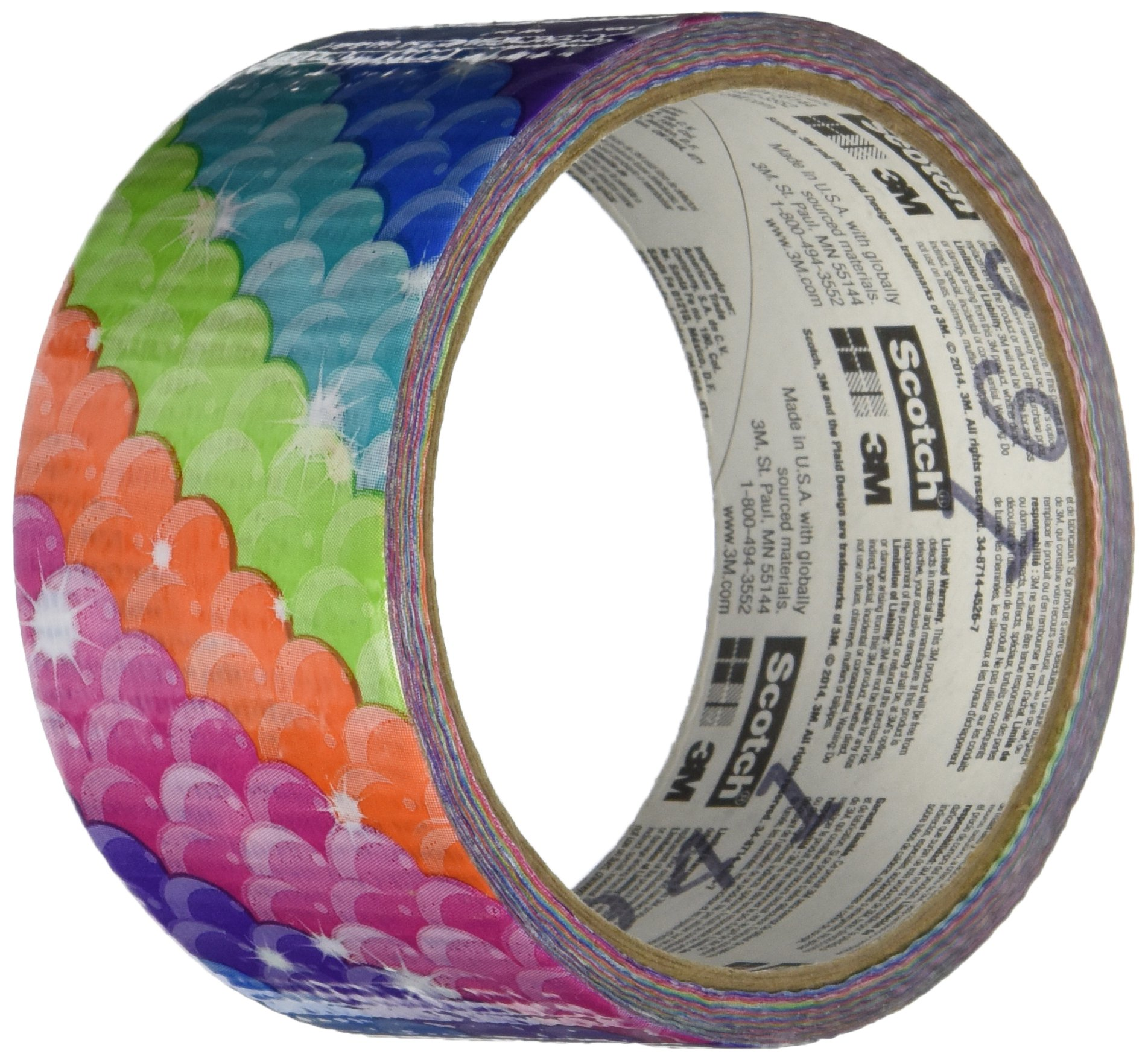 Scotch 910-MMD-C  Rainbow Scales Duct Tape,  1.88-Inch by 10-Yard, 6-Pack