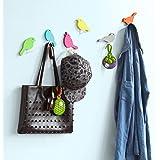 SoBuy® 5 Ganci da parete, Appendiabiti, Portachiavi,forma di uccelli,FRG64-F,IT