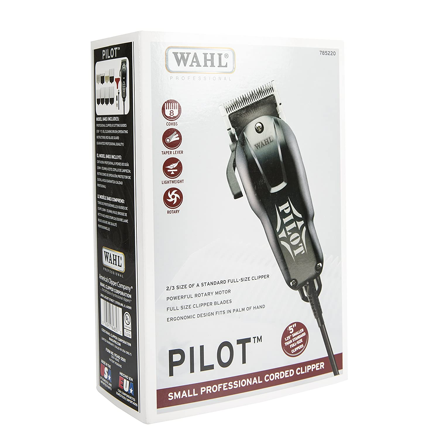 Amazon wahl professional pilot clipper 8483 23 size of amazon wahl professional pilot clipper 8483 23 size of normal clipper with full size blades beauty urmus Gallery