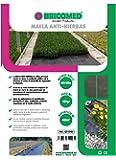 Bricomed  - Malla anti-hierba de 105 gr/m², 4 x 100 m , Negro