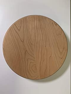 """product image for American Made Tabletop Lazy Susan (12"""", Unfinished Cherry)"""