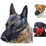 CollarDirect Adjustable Dog Muzzle Small Medium Large Dogs Set 2PCS Soft Breathable Nylon Mask Safety Dog Mouth Cover Anti Bi