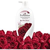 Enchanteur Rose Oud Amour Shower Gel, shower experience with fine floral fragrance, 550ml