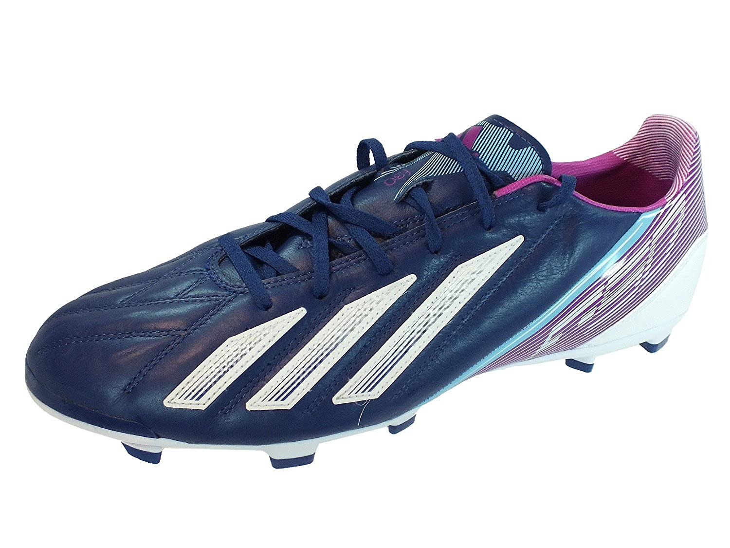 new arrival c129e 9db44 Adidas F30 TRX FG Leather Fussballschuhe dark blue-running white-vivid pink  - 46 Amazon.co.uk Shoes  Bags