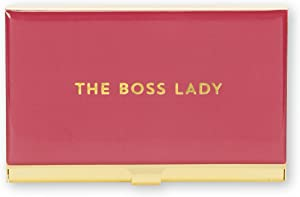 C.R. Gibson Red and Gold Boss Lady Business Card Holder 3.5'' x 2.25''